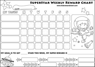 Free Printable Charts – Free Reward Chart Templates